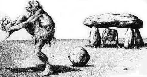 cartoon Oervoetbal