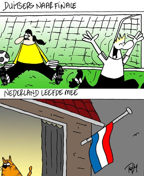 cartoon Duitsers naar de finale
