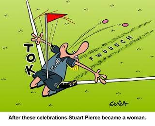 cartoon Steward Pierce became a woman