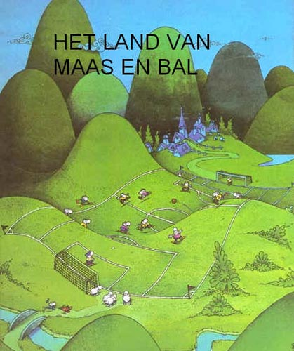 cartoon Het land van maas en bald