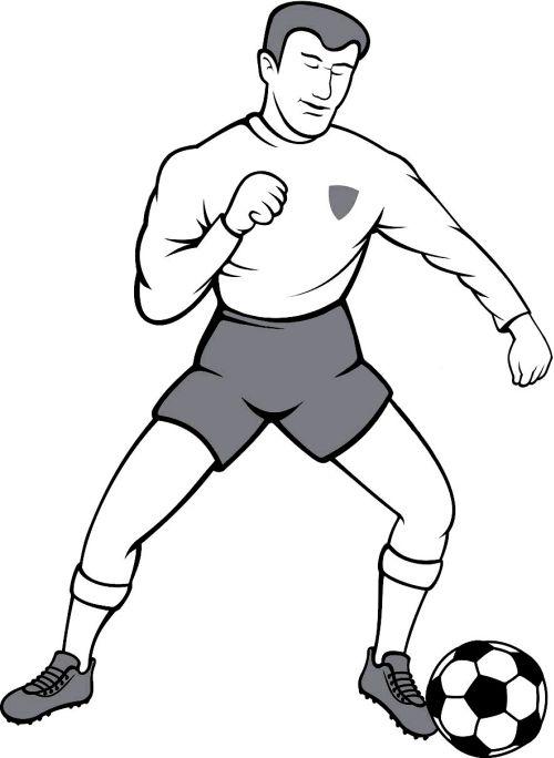 kleurplaat Man met een voetbal